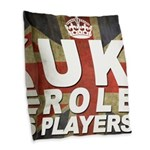 UK Role Players Burlap Throw Pillow
