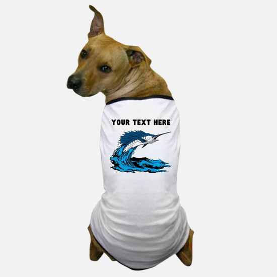 Custom Blue Marlin Dog T-Shirt