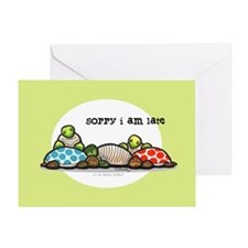 Turtle Belated Happy Birthday Greeting Card