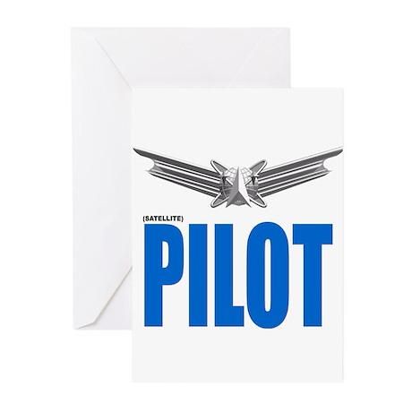 Satellite Pilot Greeting Cards (Pk of 10)