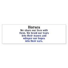 horses_rect1 Bumper Bumper Sticker
