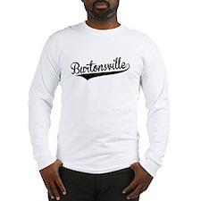 Burtonsville, Retro, Long Sleeve T-Shirt