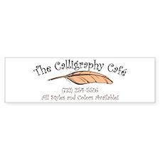 Calligraphy Cafe Bumper Bumper Sticker