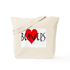 Heart Beavers Tote Bag