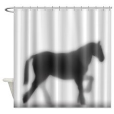 Draft Horse Silhouette Shower Curtain