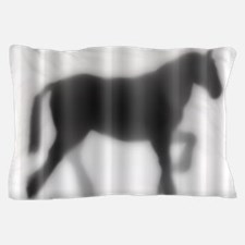 Draft Horse Silhouette Pillow Case