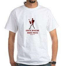 White Sa Music Rocks T-Shirt