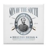 Braxton bragg Tile Coasters