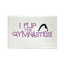 I Flip for Gymnastics Magnets