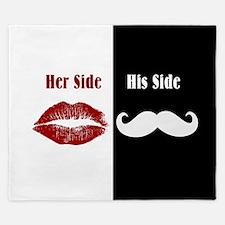 Her Side / His Side King Duvet