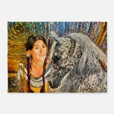 Horse Woman 5'x7'Area Rug