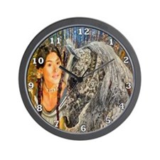 Horse Woman Wall Clock