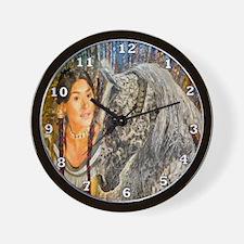 Horse Woman Wall Clock