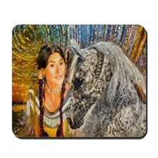 Horse Woman Mousepad