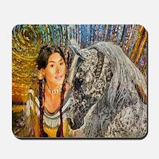 Horse Woman Mousepad