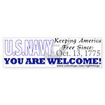 US NAVY Keeping America Free Bumper Sticker