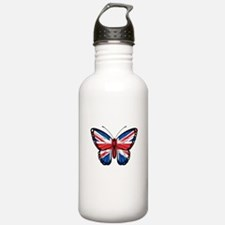 British Flag Butterfly Stainless Water Bottle 1.0l