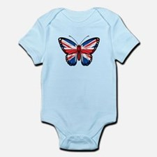 British Flag Butterfly Body Suit