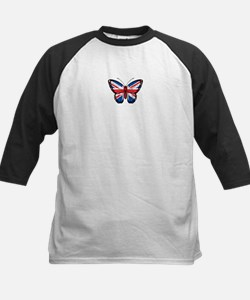 British Flag Butterfly Baseball Jersey