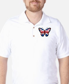 British Flag Butterfly T-Shirt