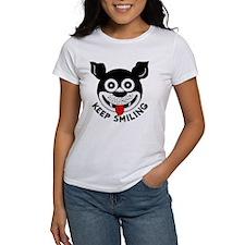 """""""Keep Smiling"""" vintage logo women's T-shirt"""