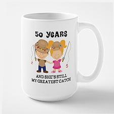 50 Years My Greatest Catch Anniversary Mugs