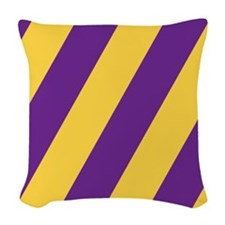 Roya Purple and Pure Gold Woven Throw Pillow