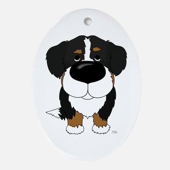 Big Nose Berner Ornament (Oval)
