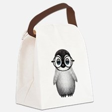 Cute Baby Penguin Wearing Glasses Canvas Lunch Bag