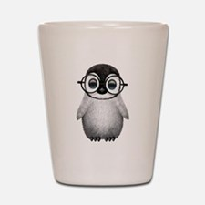 Cute Baby Penguin Wearing Glasses Shot Glass
