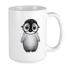 Cute Baby Penguin Wearing Glasses Mugs