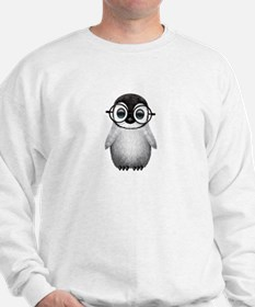 Cute Baby Penguin Wearing Glasses Sweater