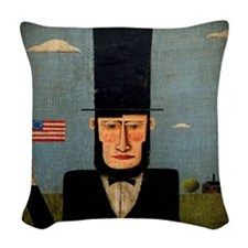 President Lincoln Woven Throw Pillow