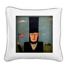 President Lincoln Square Canvas Pillow