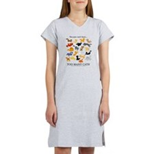 Too Many Cats! Women's Nightshirt