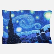 Starry Night Border Collies Pillow Case