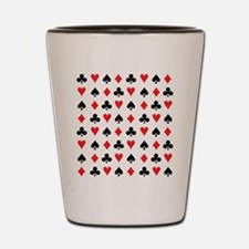 Card Suits Shot Glass