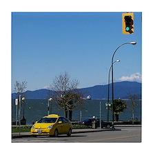 denman street Tile Coaster