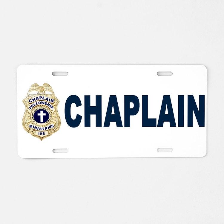 Cute Chaplain Aluminum License Plate