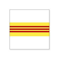 """Unique Flag of vietnam Square Sticker 3"""" x 3"""""""