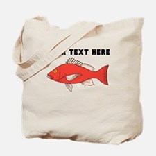 Custom Red Snapper Tote Bag