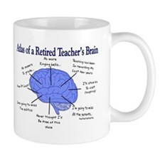 Atlas of a Retired Teachers Brain Mugs
