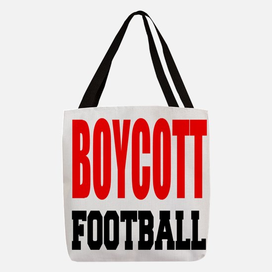 Boycott Football Polyester Tote Bag