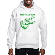 Custom Green Alligator Head Hoodie