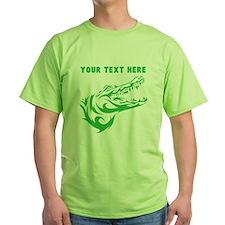 Custom Green Alligator Head T-Shirt