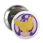Hen Buff Chantecler Button