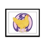 Hen Buff Chantecler Framed Panel Print