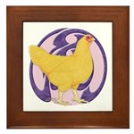 Hen Buff Chantecler Framed Tile