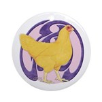 Hen Buff Chantecler Ornament (Round)