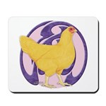 Hen Buff Chantecler Mousepad